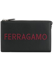 Salvatore Ferragamo Studded Logo Document Holder Black