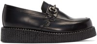 Underground Black Creeper Penny Loafers