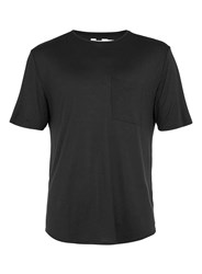 Topman Black Drape Scoop Neck T Shirt