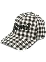 Diesel Check Baseball Cap With 3D Embroidery 900