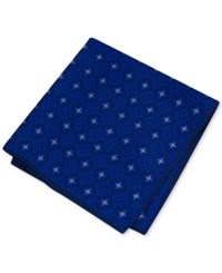 Club Room Men's Medallion Pocket Square Only At Macy's Navy