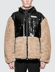 Alexander Wang Shearling Coat With Silicon Patch