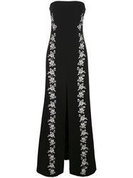 Cinq A Sept Eva Floral Embroidered Gown Black