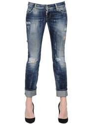 Dsquared Sexy Washed And Patched Denim Jeans