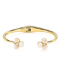Kate Spade New York Mother Of Pearl Floral Cuff Cream