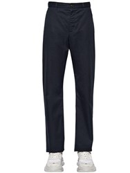 Balenciaga Baggy Cotton Gabardine Chino Pants Navy