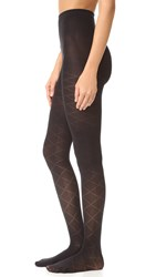 Kate Spade Quilted Tights Black
