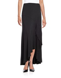 Ella Moss Ruffled Maxi Skirt Black