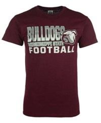 J America Men's Mississippi State Bulldogs Football Stack T Shirt Maroon