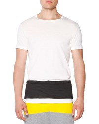 Tomas Maier Short Sleeve T Shirt With Contrast Stripe White