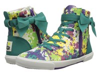I Heart Ugg Hi Top Paint Splatter Tropic Teal Canvas Women's Lace Up Casual Shoes Multi