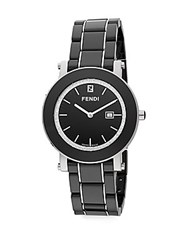 Fendi Ceramic 0.25 Tcw Diamond And Stainless Steel Watch Black