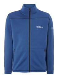 Oscar Jacobson Aiden Tour Half Zip Neck Cardigan Blue