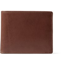 J.Crew Leather Billfold Wallet Brown