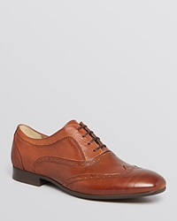 H By Hudson Francis Calfskin Wingtip Oxfords Tan