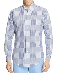 Brooks Brothers Regent Patchwork Slim Fit Button Down Shirt Patchwork Blue