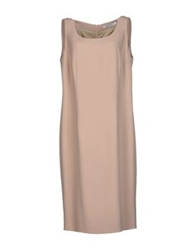 Gai Mattiolo Knee Length Dresses Beige