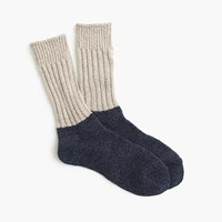 J.Crew Anonymous Ismtm Two Tone Socks Natural Navy