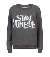 Claudie Pierlot Stay Humble Slogan Sweater Female Grey