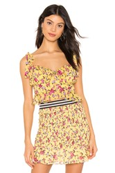 For Love And Lemons Beaumont Top Yellow