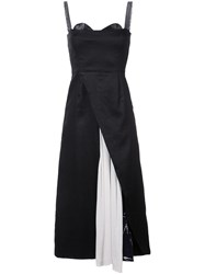 Maki Oh Adire Stuffed Slit Dress Women Silk Linen Flax Xs Black