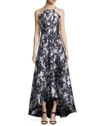 Phoebe Couture Strappy Back High Low Floral Gown Multi Pattern