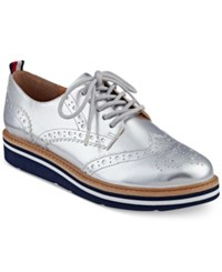 Tommy Hilfiger Women's Kabriele Lace Up Oxfords Women's Shoes Silver