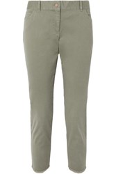 Hatch Carson Cotton Blend Twill Pants Green