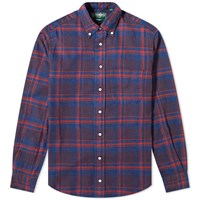 Gitman Brothers Vintage Flannel Check Shirt Red