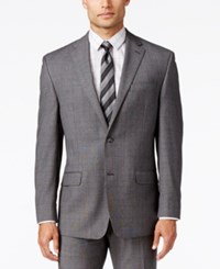 Sean John Men's Classic Fit Gray Glen Plaid Jacket