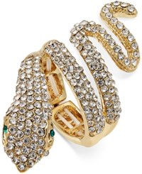 Thalia Sodi Gold Tone Pave Drama Ring Only At Macy's