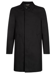 Aquascutum London Broadgate Single Breasted Raincoat Black