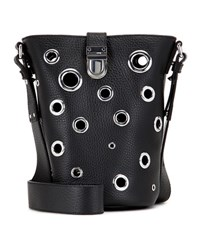Mcq By Alexander Mcqueen Eyelet Mini Leather Bucket Bag Black