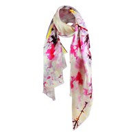 Unpaired Whisper Lilac Ladies Long Silk Scarf