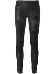 Rta Destroyed Effect Skinny Trousers Black