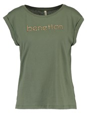 United Colors Of Benetton Print Tshirt Military Green Oliv
