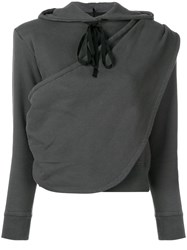 Unravel Project Draped Hoodie Grey