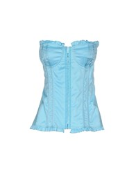 Denny Rose Topwear Tube Tops Women Sky Blue