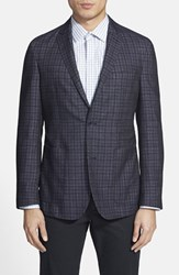 Men's Vince Camuto 'Dell Aria Air' Trim Fit Jacket Navy Check