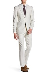 John Varvatos Jake Antique White Windowpane Two Button Notch Lapel Suit