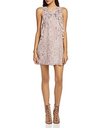 Bcbgeneration Ruffled Snake Print Tent Dress Rose Smoke