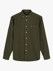 Lyle And Scott Baby Cord Button Down Shirt Olive