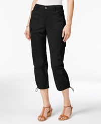 Styleandco. Style Co. Petite Bungee Hem Cargo Capri Pants Only At Macy's Deep Black