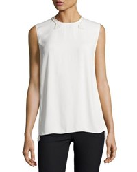 Lanvin Sleeveless Rope Trimmed Blouse Cream