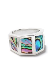 Duffy Multi Faceted Abalone Ring 60