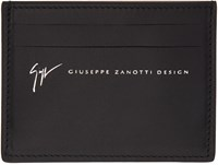 Giuseppe Zanotti Black Birel Card Holder