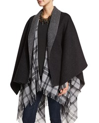 Eileen Fisher Fisher Project Baby Alpaca Poncho Charcoal Grey Women's