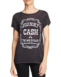 Signorelli Johnny Cash Graphic Tee Black Burnout