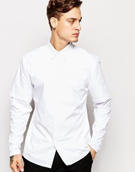 Standard Issue Exclusive Shirt With Contrast Jersey Yoke White