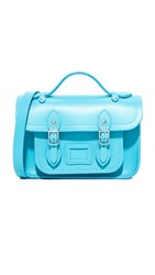 The Cambridge Satchel Company Mini Neon Blue